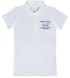 Snippet Training Embroidered Women's Polo