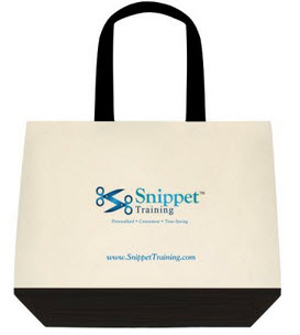 Two-Tone Deluxe Tote Bags (Front)